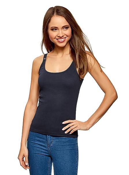 806250f63435b oodji Collection Mujer Camiseta Nadadora  Amazon.es  Ropa y accesorios