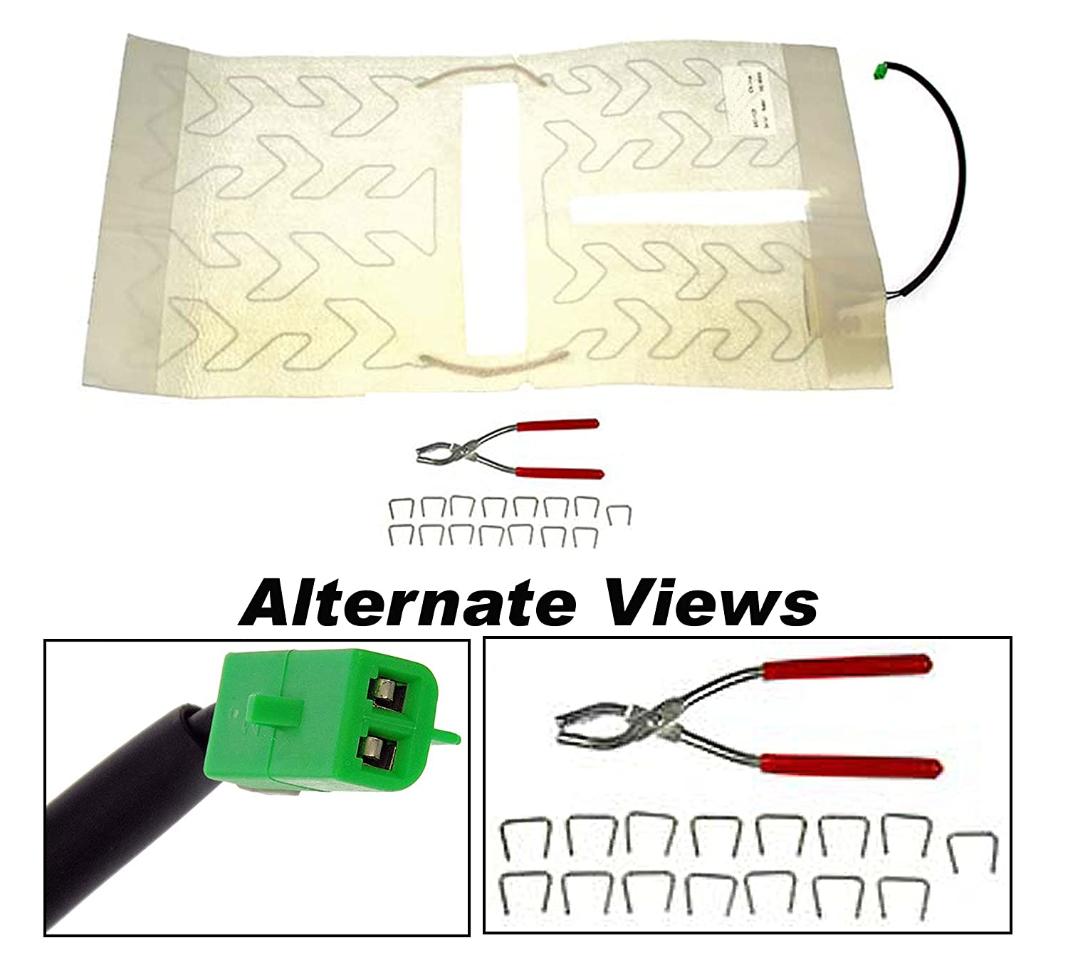 APDTY 752216 Bottom Lower Seat Heater Pad Front Left/Right Fits Select 2003-2008 Cadillac Escalade/Chevrolet Avalanche, Silverado, Tahoe/GMC Sierra, Yukon (Replaces 88940288, 88940309)