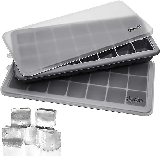 Amazon.com: Glacio - Juego de 2 bandejas para cubitos de ...