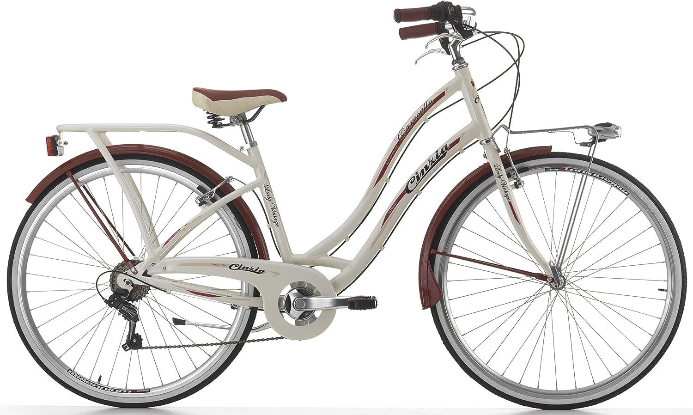 Cicli Cinzia Bicicleta Carosello para Mujeres, Cuadro de Aluminio ...