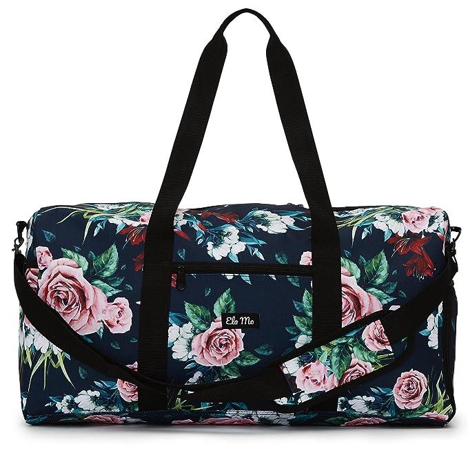 9d420522e Elegante bolso deportivo Ela Mo, bolsa de viaje con compartiment para  zapatos, maletín de mano de 38 l, Weekender, unisex, en 6 diseños de moda,  ...