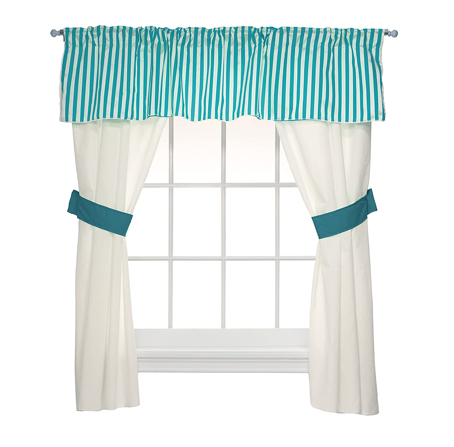 BabyDoll Bedding Regal Window Valance Navy