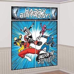 amscan Power Rangers Ninja Steel Scene Setter Wall Decoration