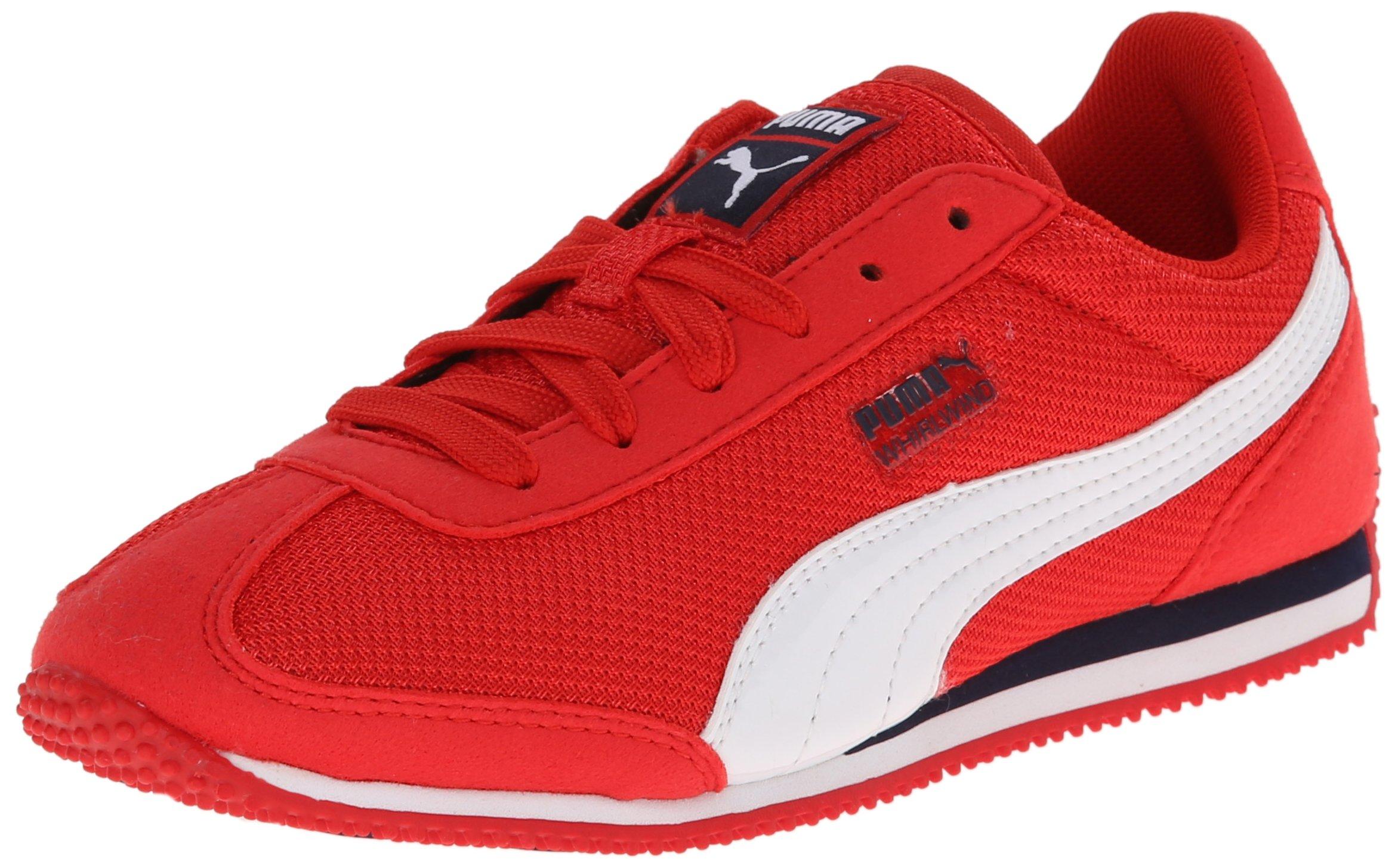 PUMA Whirlwind Mesh JR Sneaker (Little Kid/Big Kid), High Risk Red/White/Peacoat, 12.5 M US Little Kid