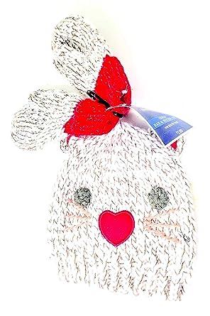 d6a1360628b Amazon.com  Baby Knit Kitten Skull Cap with Cute Little Ears