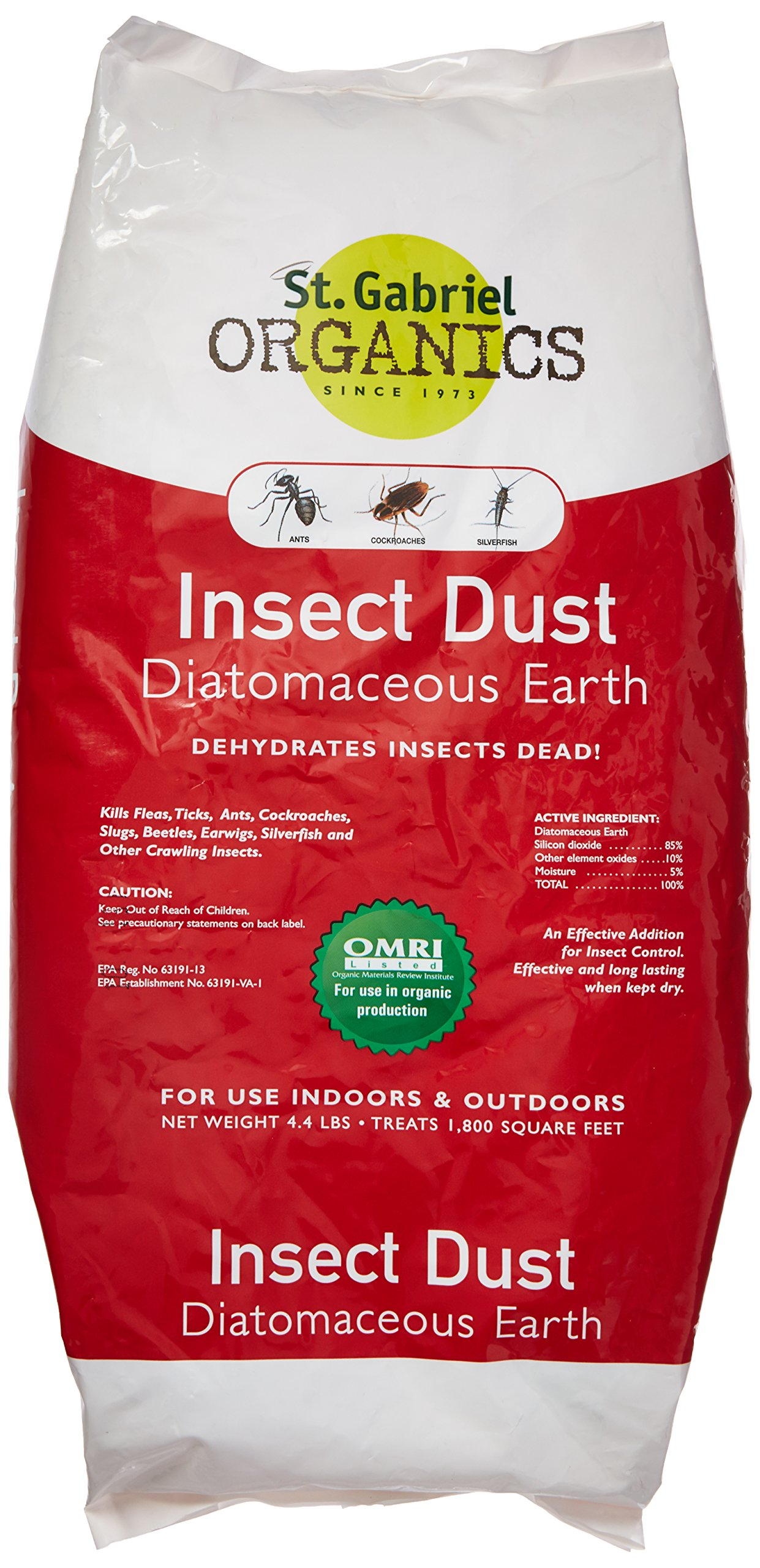 St. Gabriel Laboratories All Natural Indoor/Outdoor Insect Dust Repellent - 4.4 lb Bag 50020-7