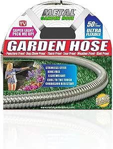 Metal Garden Hose (50'), The Original 304 Stainless Steel Hose