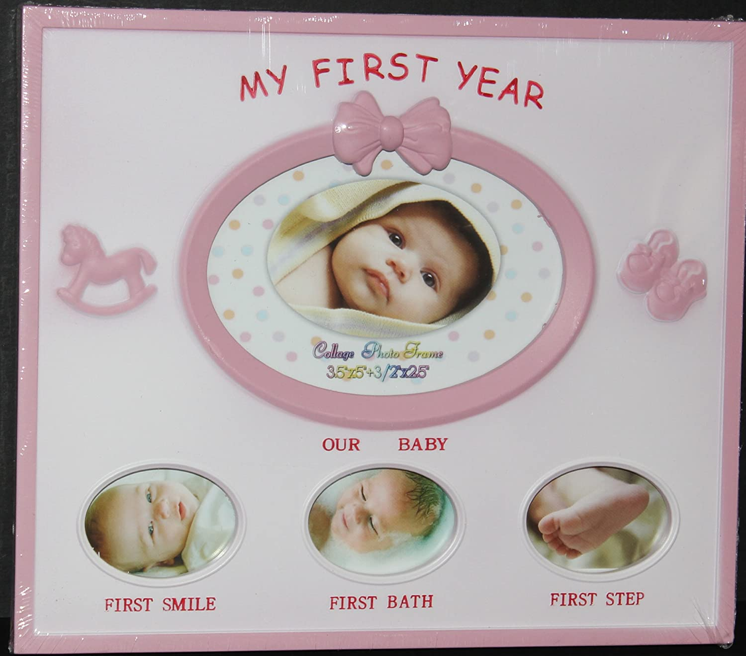 Baby Photo Frame - My First Year PINK by Unknown   B007A4VWNS
