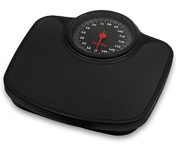 Terraillon Tneo - Báscula de baño (Báscula de baño analógica, 150 kg, 1 kg, kg, Plaza, Negro): Amazon.es: Salud y cuidado personal