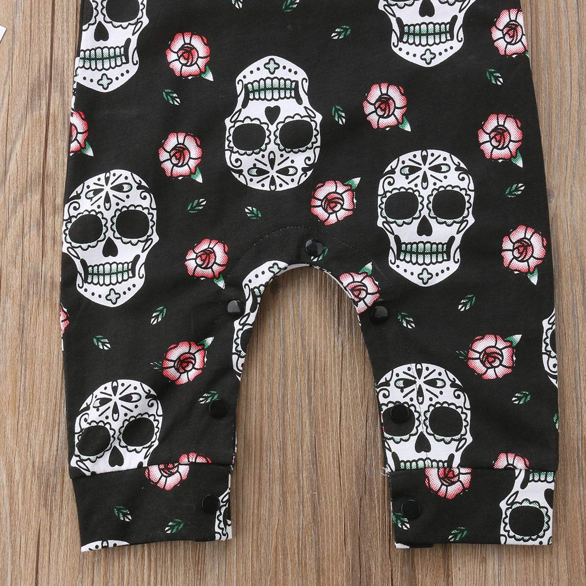 RS-FASHION Newborn Baby Girl Skull Romper Clothing Sleeveless Playsuit with Headband