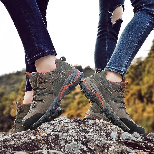 a43b44fec9814e [HIFEOS] トレッキングシューズ メンズ レディース 防水 ローカット 登山靴 28.0cmまで 大きいサイズ