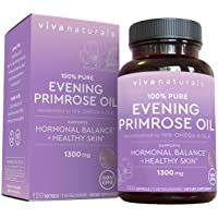Evening Primrose Oil Capsules with GLA (1300 mg), 120 Softgels, Helps Support Hormone...