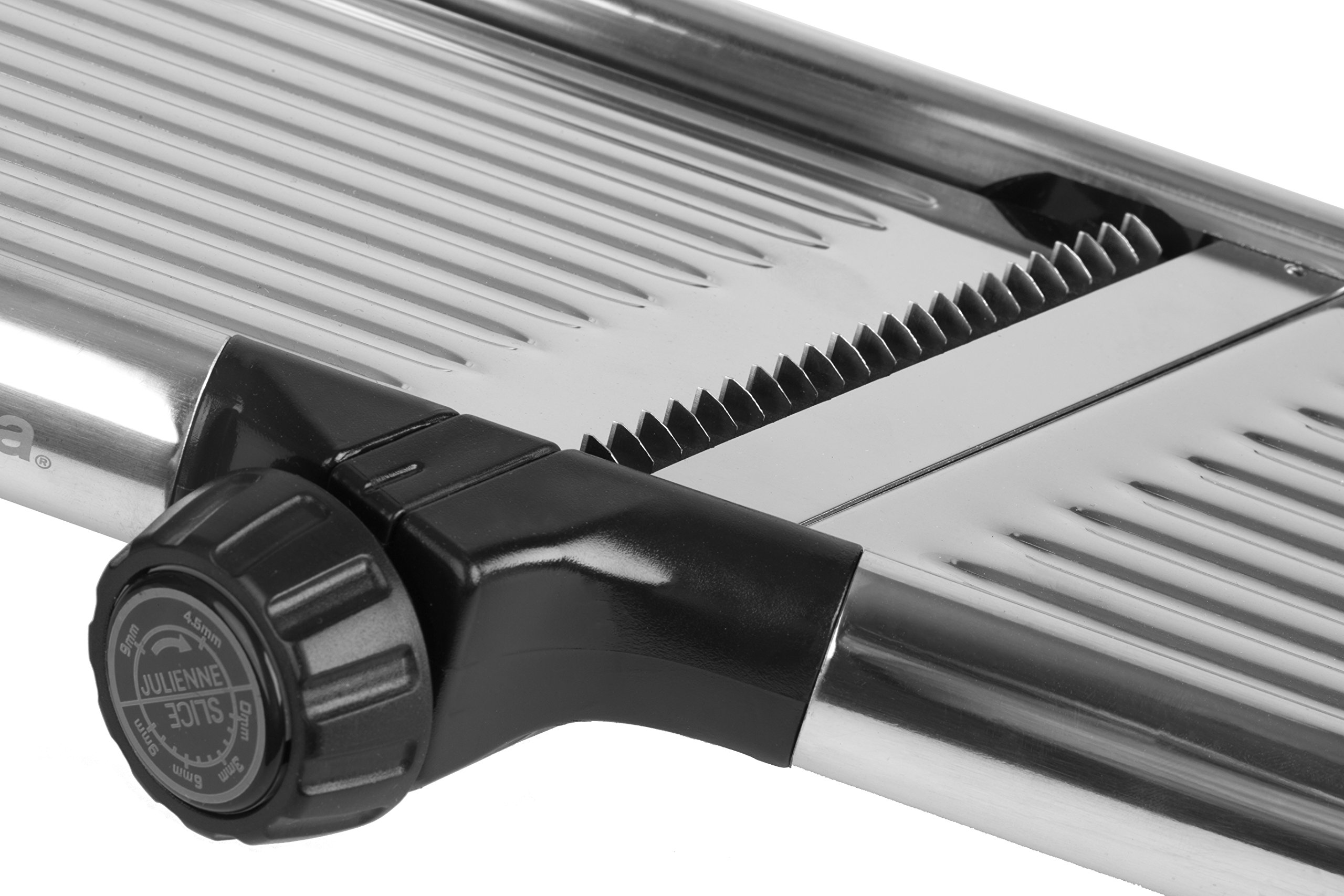 Gourmia GMS9105 Adjustable Stainless Steel Mandoline Slicer Dial-Style Kitchen Slicer With Built in Adjustable Blades Fine to Thick Slice & Julienne Settings by Gourmia (Image #4)