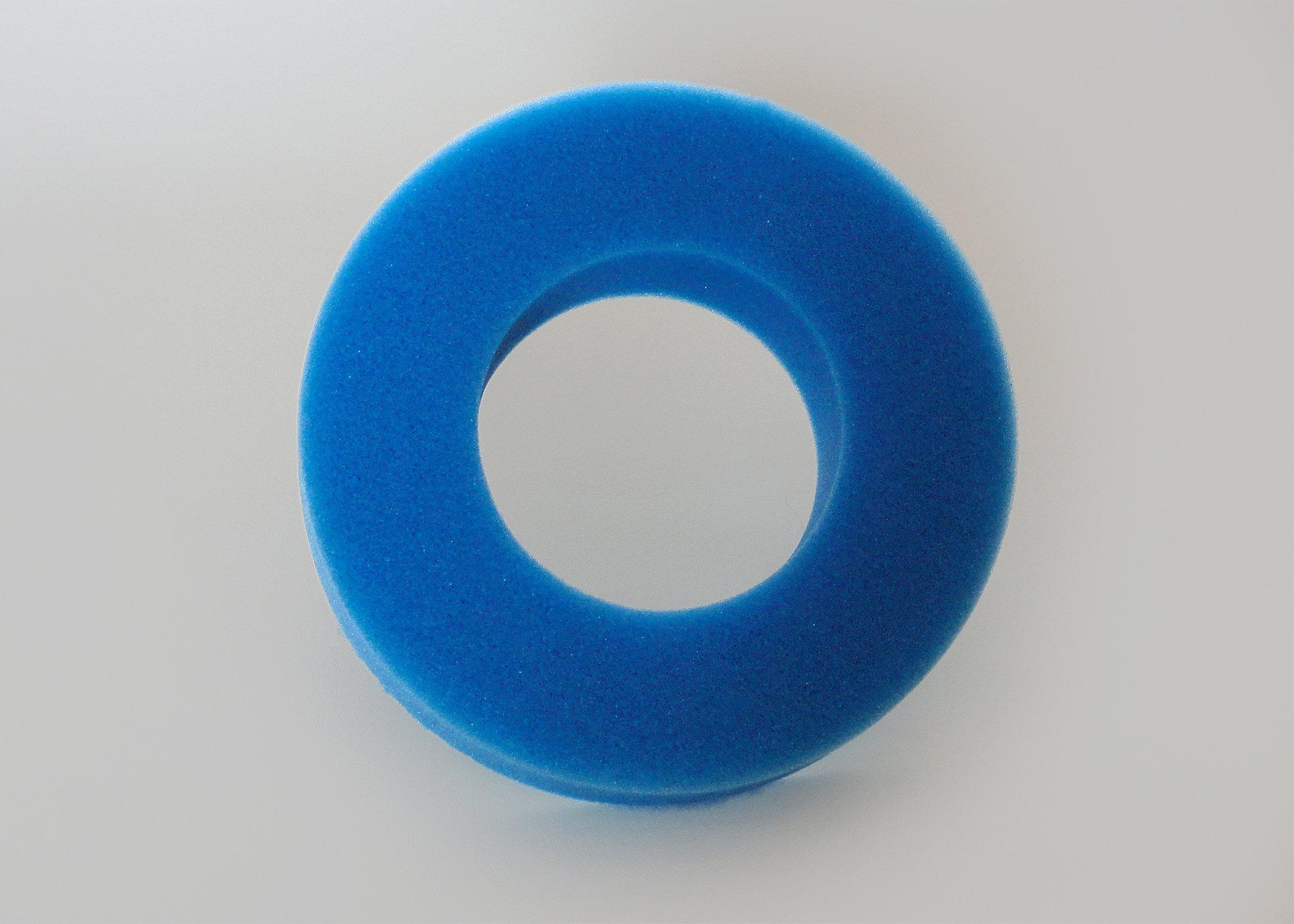 Geneva Healthcare Single-Use Disposable Head Positioner - Single Ring Foam Cushion - 9'' O.D. x 4.5'' I.D. x 2'' - 36/CS