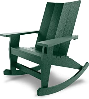 product image for Hatteras Hammocks Forest Green Adirondack Rocker, Eco-Friendly Durawood, All Weather Resistance, Fit 'N' Finish Handcrafted in The USA