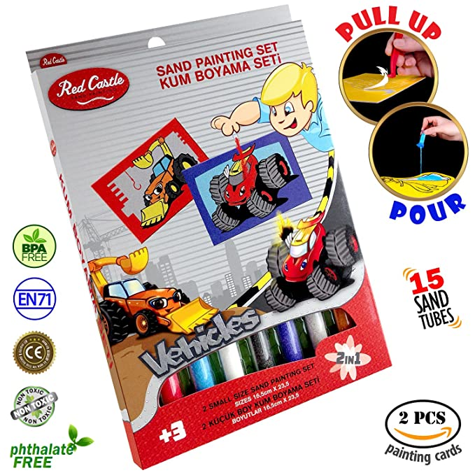 Amazon.com: New in USA.. The most Famous Sand Art Kits for Kids in All Europe. RED CASTLE Sand Painting Art Kits, Colored Sand Painting, DIY Learning Craft ...