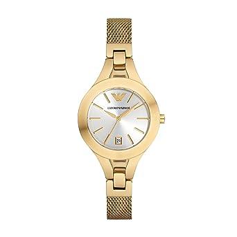 Amazon.com: Emporio Armani AR7399 Ladies Chiara Gold Plated Mesh Bracelet Watch: Emporio Armani: Watches