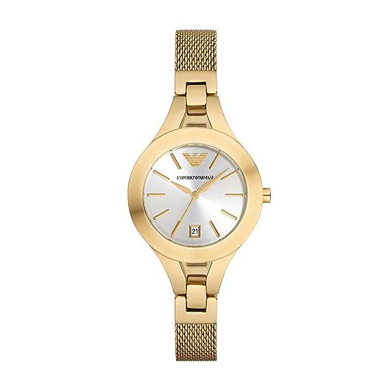 3fb73abbcb3a Emporio Armani Reloj Analógico para Mujer de Cuarzo con Correa en Acero  Inoxidable 4053858508514  Amazon.es  Relojes