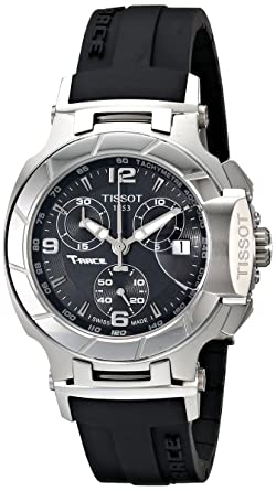 a0bf245f70f Image Unavailable. Image not available for. Color: Tissot Women's  T0482171705700 T-Race Black Dial Rubber Strap Watch