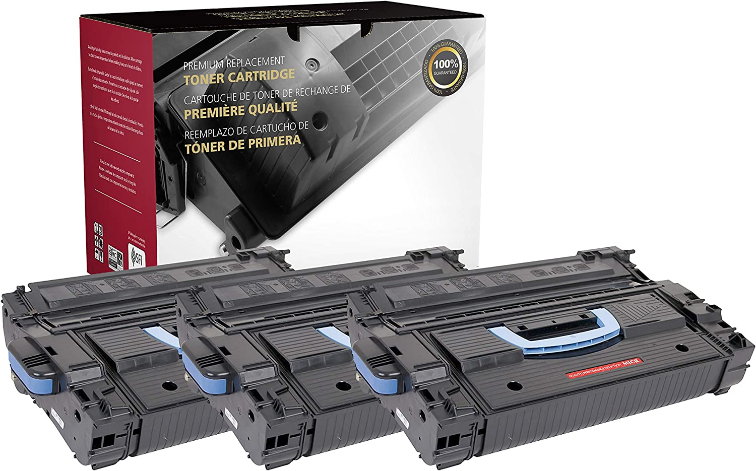 Inksters Remanufactured Toner Cartridge Replacement for HP C8543X MICR (HP 43X) 02-81081-001 - Used with HP Laserjet 9000 9000N 9000DN 9000HNF 9000HNS 9000MFP - 30K Pages (Black) - 3 Pack