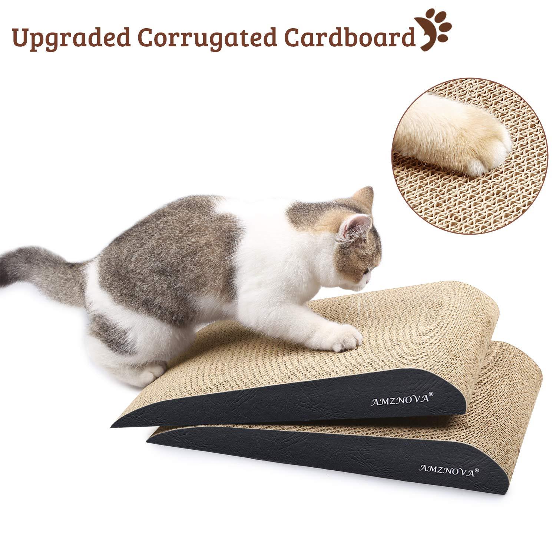 in Cartone Scratchers Durevole Kitty Gatto Che graffia Pad L AMZNOVA inclinata Limone Catnip Inclusi Cat Scratch Divano Lounge con Fondo