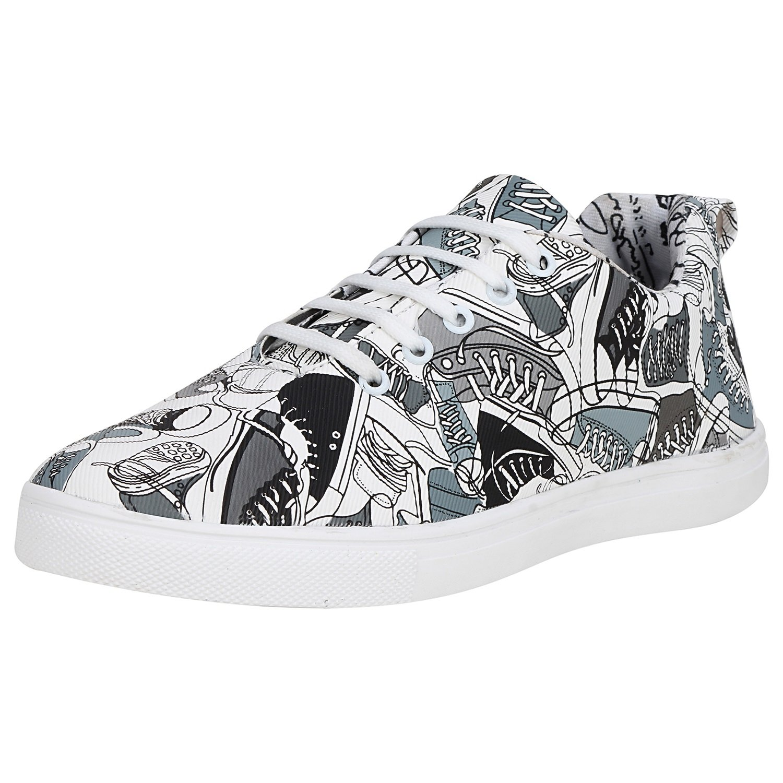 Kraasa 4215 Shoes Designer Printed Casual Sneakers Grey UK 10 (B07DQHN47Y) Amazon Price History, Amazon Price Tracker
