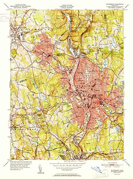 Amazon.com: 1951 Waterbury, CT | USGS Historical Topographic Map ...