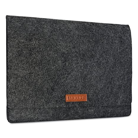 "KANVASA Funda Ordenador 14 Pulgadas y MacBook Pro 15"" Fieltro - Bolso Notebook Portatil Antracita"