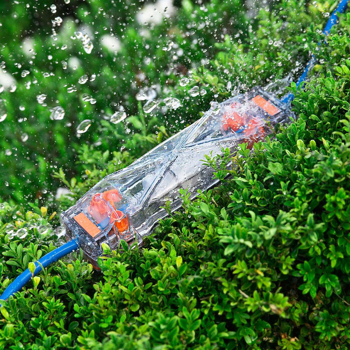 Clear Housing with Hook and Security Loop Weatherproof Extension Cord Protector