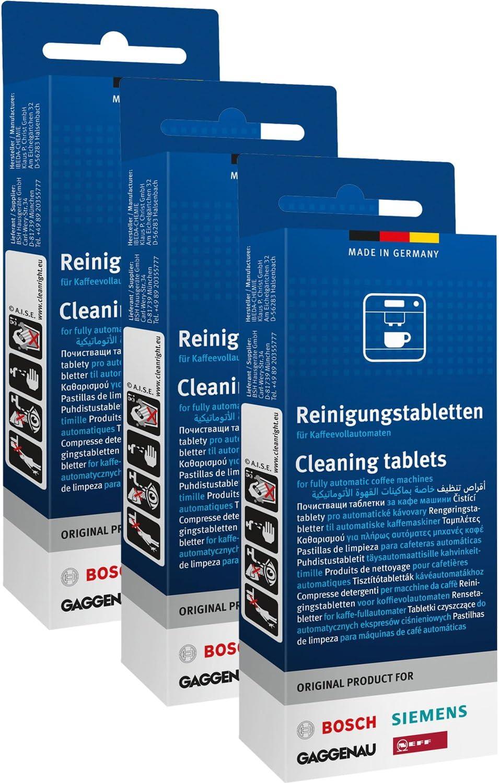 3 x 10 original Bosch Siemens Neff Gaggenau pastillas de limpieza ...