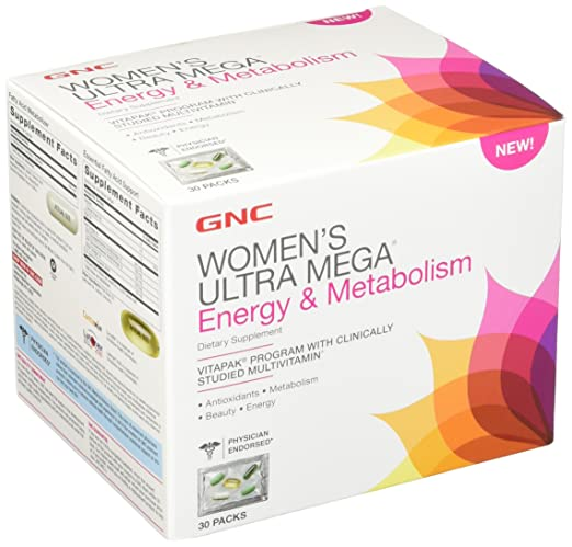 GNC Women's Ultra Mega Energy and Metabolism Supplement, 30 Count