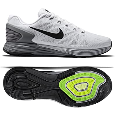 Nike LunarGlide 6 White/Platinum/Cool Grey/Black 654433-100 Men's Running