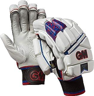 Gunn & Moore Mythos 909Destra, Unisex, Guanti da battitore, Bianco/Rosso/Blu/Nero, Adulto GM Cricket 51731913