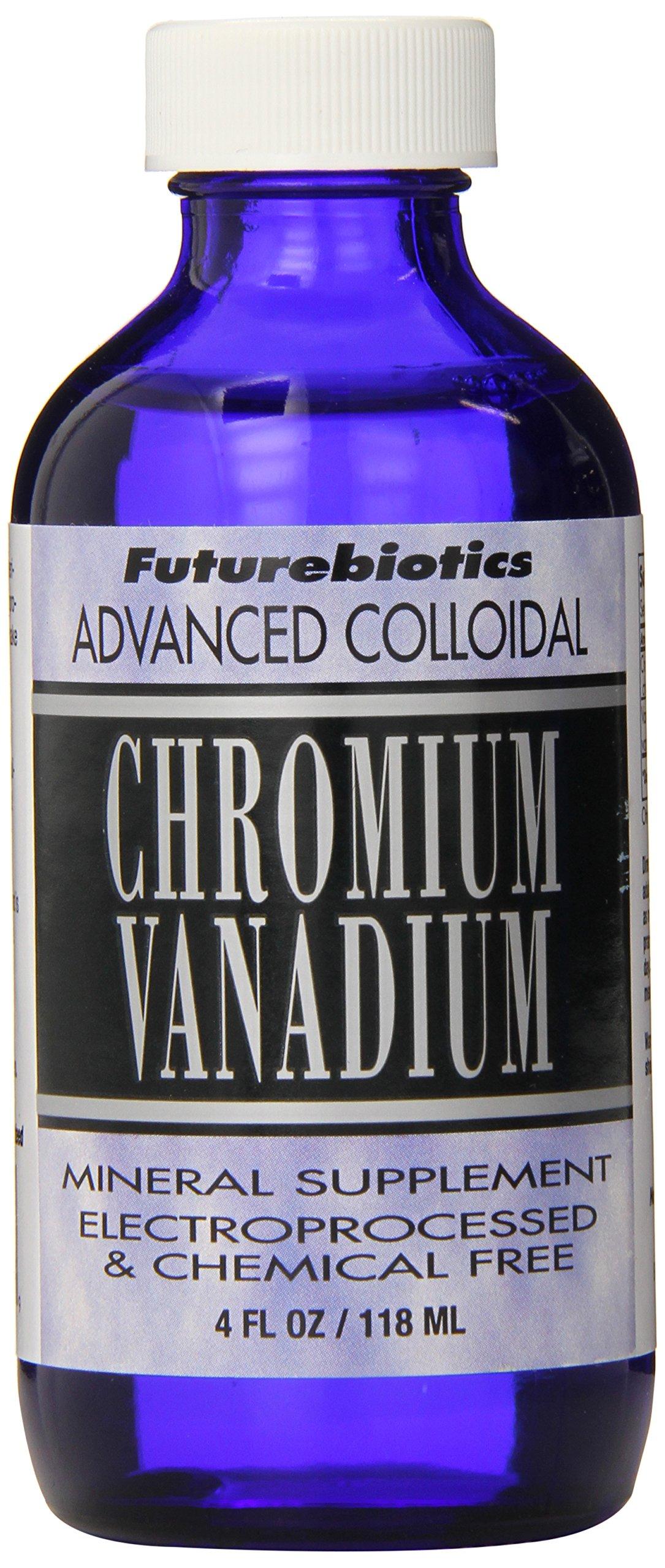 Futurebiotics Chromium/Vanadium, 4-Ounce (Pack of 12)