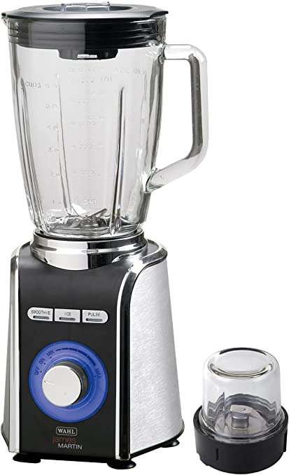 James Martin by Wahl Executive Collection Table Blender & Grinder 700W 1.5L Glass Jug & Grinder Attachment ZX680