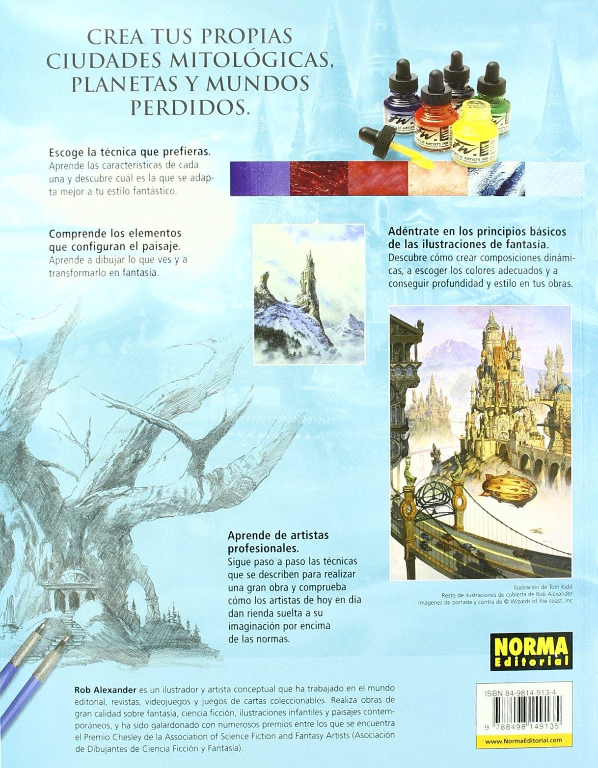 Dibujar y pintar paisajes y ciudades de fantasia / Drawing ...
