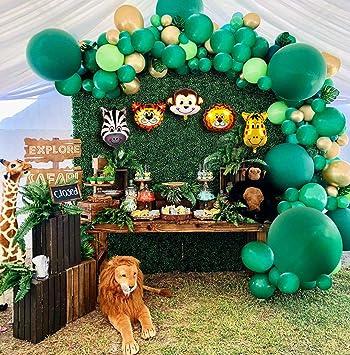 Baby Shower Safari Nino Decoracion.2020 New Jungle Safari Theme Party Supplies 110 Pcs Balloon Garland Kit Favors For Kids Boys Birthday Baby Shower Decor Balloons For Parties