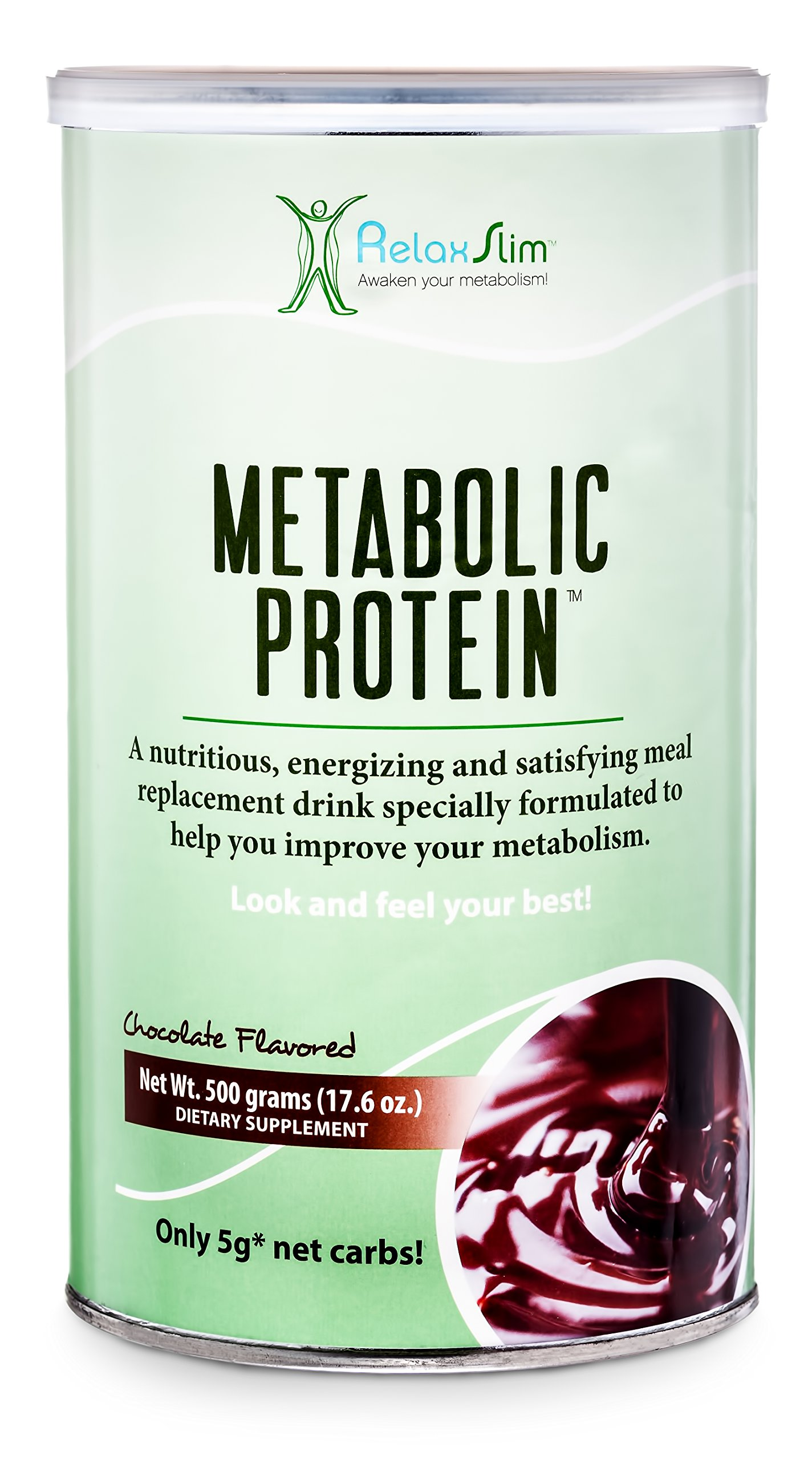 """RelaxSlim Meal Replacement Whey Protein Shakes, Formulated by Award Winning Metabolism and Weight Loss Specialist- Natural Aid for a """"Slow Metabolism"""" with Ingredients to Naturally Suppress Appetite and Start of Your Day Burning Fat- Great Taste and V"""