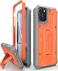 ArmadilloTek Vanguard Designed for iPhone 11 Pro Max Case (6.5 inches) Military Grade Full-Body Rugged with Kickstand and Built-in Screen Protector - Orange