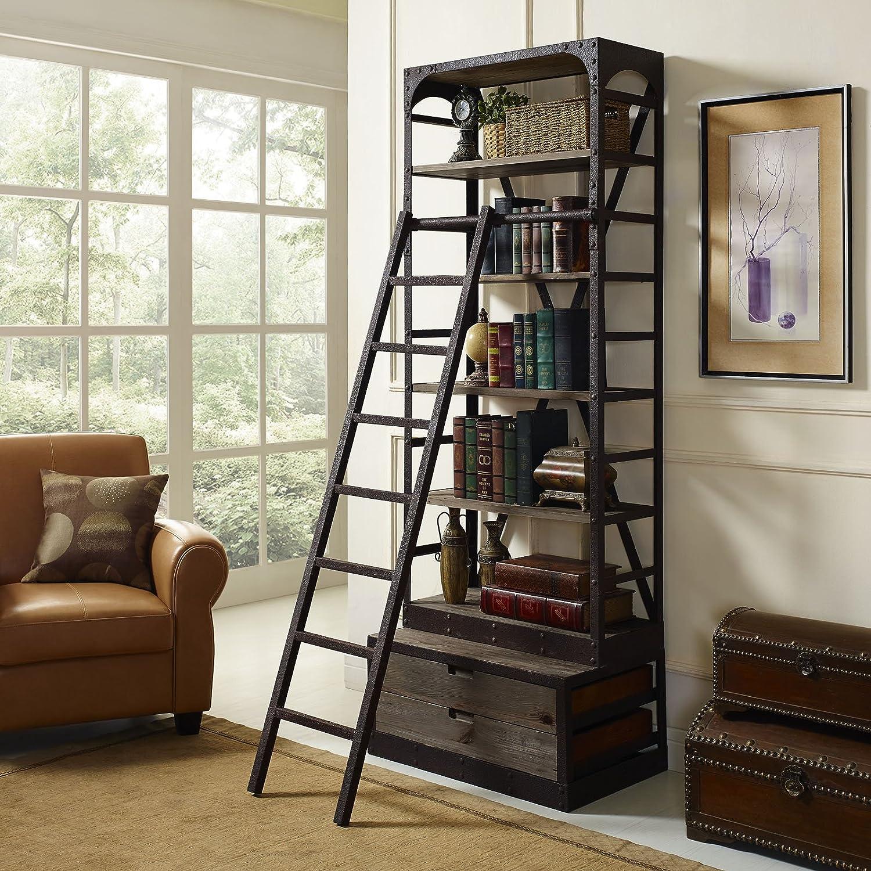Velocity Wood Bookshelf, Brown