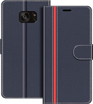 COODIO Funda Samsung Galaxy S7 Edge con Tapa, Funda Movil Samsung ...