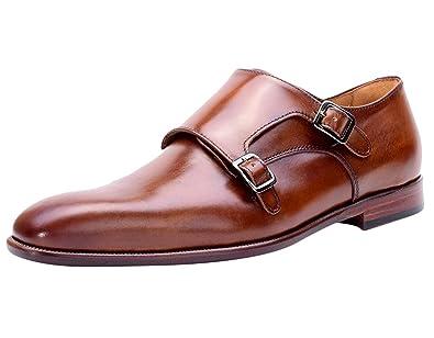 1061aba5fb8 Amazon.com   Curatore Bryan Cognac Double Monkstrap Leather Oxford ...
