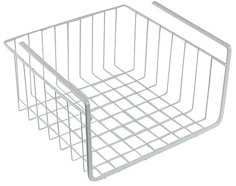 Southern Homewares White Wire Under Shelf Storage Organization Basket,  10u0026quot;, ...