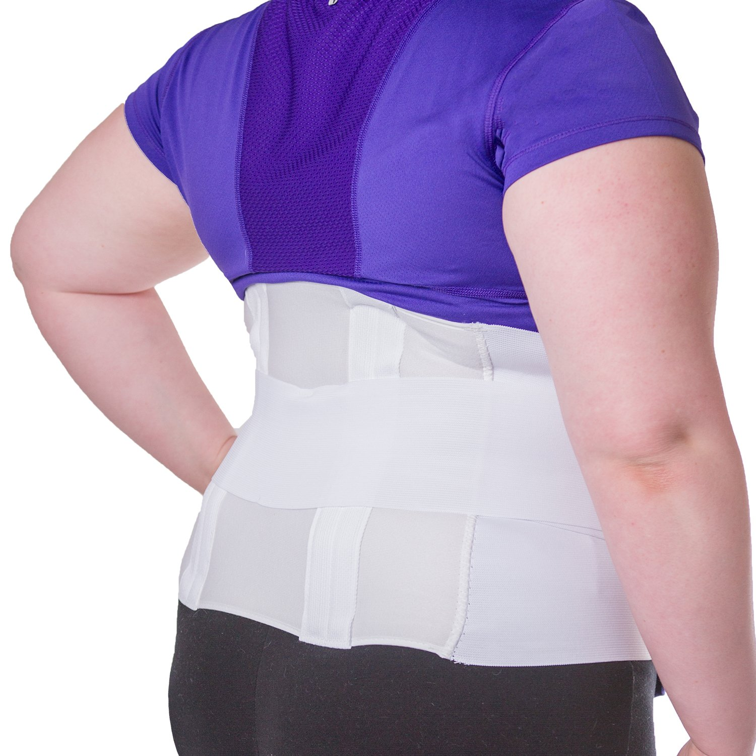 BraceAbility Plus Size 4XL Bariatric Back Brace | XXXXL Big & Tall Lumbar Support Girdle for Obesity Lower Back Pain in Extra Large, Heavy or Overweight Men and Women (Fits 60''-68'' Hips)
