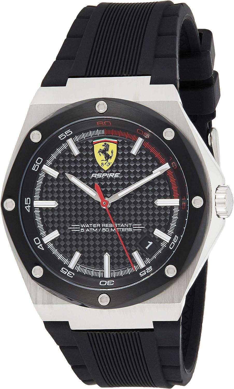 Scuderia Ferrari Men S Quartz Watch With 0830529 Amazon De Uhren