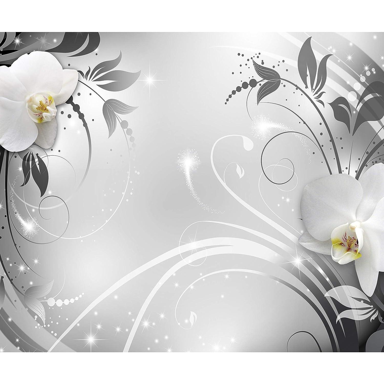 Papier peint intiss/é Fleurs Lys 400x280 cm Trompe l oeil decomonkey D/éco Mural Tableaux Muraux Photo 3d Effet Abstrait Abstraction