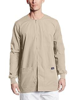 119770112d5 Amazon.com: Cherokee Workwear Scrubs Men's Snap Front Warm-Up Top ...