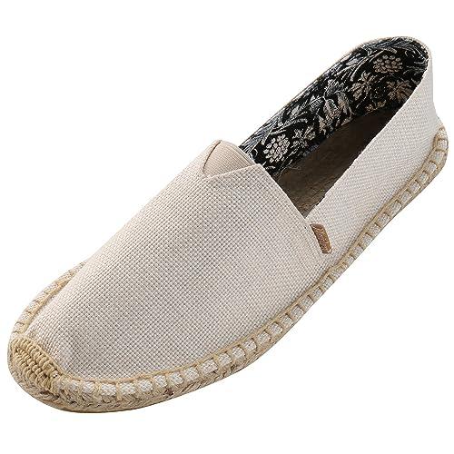 Alexis Leroy Pureness Textile Mens Flat Espadrilles Beige 41 M EU / 7-7.5 B