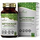 Ezyleaf Nattokinase-Kapseln [100 mg], 120 vegane Kapseln   2000 FU   Hochdosierte Nattokinase   Aus fermentierten Sojabohnen   Ohne künstliche Inhaltsstoffe   Vorrat für 4 Monate