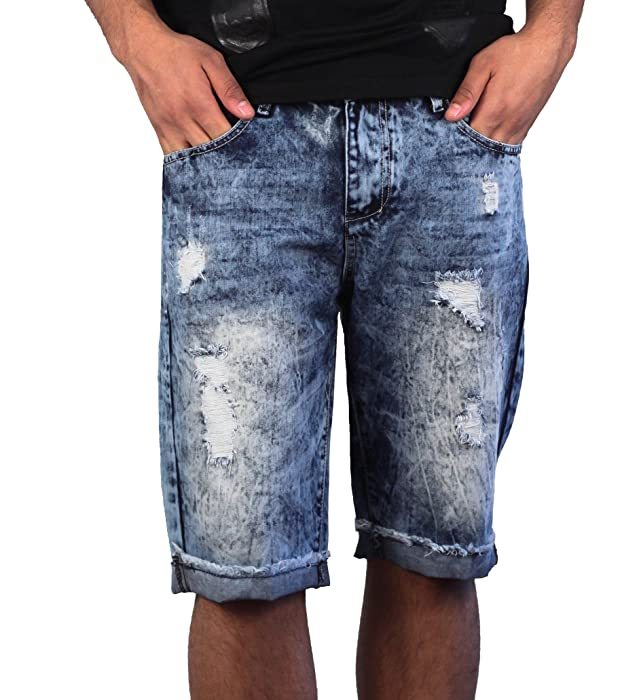 5c65d6c2eb Denim Ribbed Men's Moto Shorts from X-Ray Jeans
